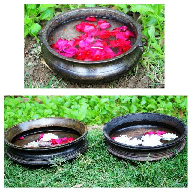Beautiful Handmade bronze  urli. Check out our complete  collection at https://www.indianshelf.com/category/urli-pots-planters/. We deliver worldwide. #BirdBath #gardenpot #urli #bronzeurli #SouthIndianUrli