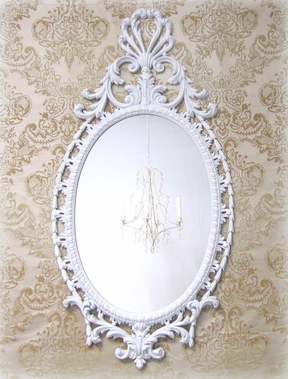 Hollywood regency mirror for sale large white by for White framed mirrors for sale