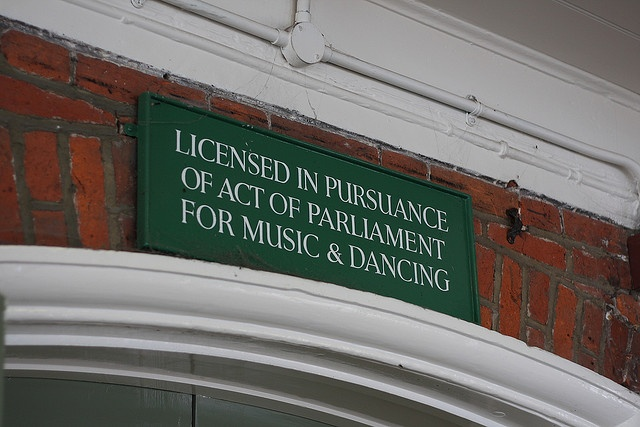 """Chichester Town Hall is """"LICENSED IN PURSUANCE OF ACT OF PARLIAMEN FOR MUSIC & DANCING""""     For more detail about Music Licensing can visit http://www.broadjam.com/delivery/index.php"""