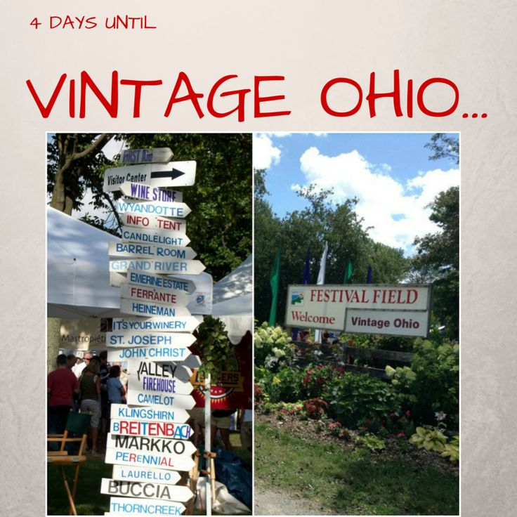 4 days till Vintage Ohio!! If you have not gotten your tickets yet visit www.visitvintageohio.com or call (800)227-6972