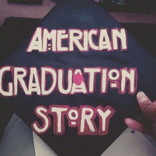 American Horror Story inspired Graduation Cap
