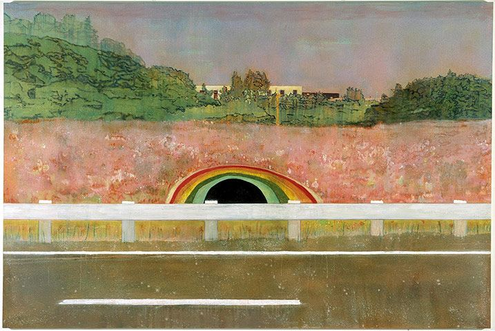 Credit: Victoria Miro Gallery, London Country Rock, 1998–99. The painting is based on a tunnel seen from the road in Canada