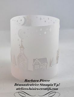 Barbara, démonstratrice STAMPIN'UP!: Un photophore d'hiver