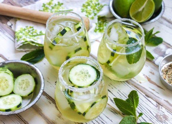 Cucumber & Green Tea Mojito, Perfect for St. Patrick's Day!