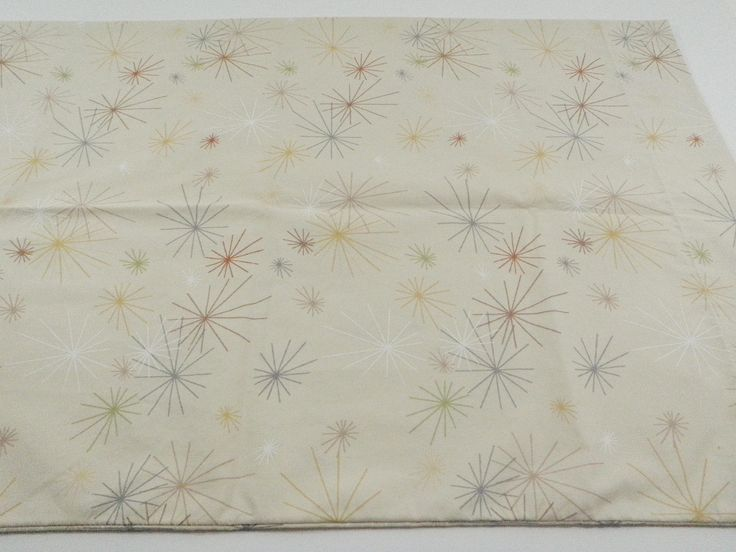Springs Starburst King Size Pillowcase Atomic Retro Vintage Beige Tan Neutral Pillow Case Made in the USA by TraSheeWomen on Etsy #springs #springsglobal #retro #atomic #starburst #pillowcase #bedding #bed #sheets