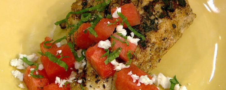 Watermelon-feta salad might be a good potluck dish; may even sub fresh basil for the mint...hmmm.