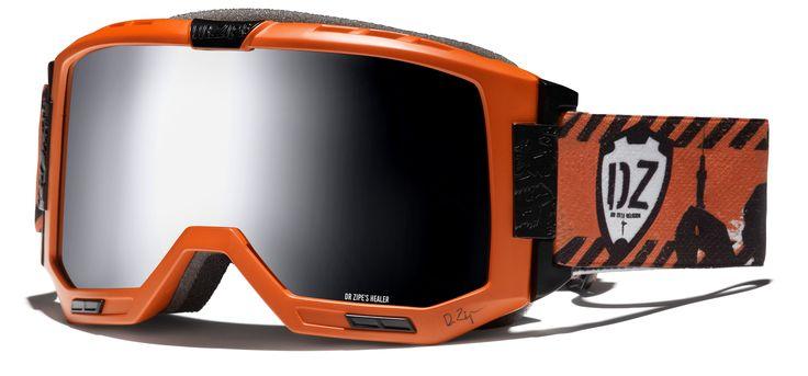 Dr.Zipe Healer You´ve been warned, orange with silver mirror lens - Level V