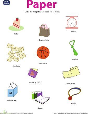 resource paper natural vs man made kindergarten worksheets worksheets science worksheets. Black Bedroom Furniture Sets. Home Design Ideas