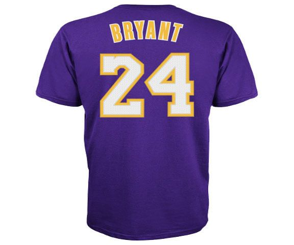 Los Angeles Lakers Kobe Bryant Adidas #NBA Men Player T Shirt Purple from $28.98