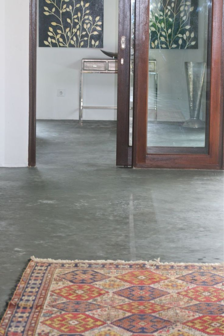 Love concrete floors with rugs...