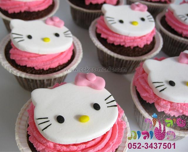 hallo kitty cupcakes by cakes-mania  קאפקייקס הלו קיטי מאת שיגעון העוגות - - www.cakes-mania.com