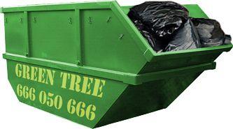 Średni kontener na śmieci firmy Kontenerygreen Wrocław