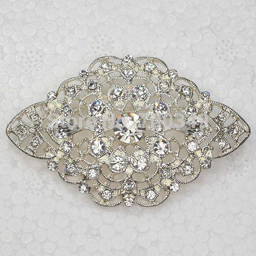 Посеребрение 12 piece/lot прозрачный кристалл горный хрусталь свадьба ну вечеринку пром цветок булавка брошь ювелирные изделия подарок C711 макияж-1