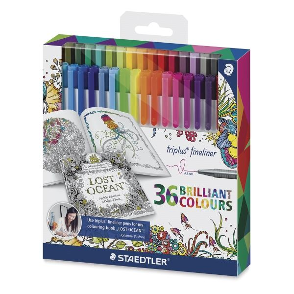 Shop Staples For Great Deals On StaedtlerR Adult Colouring Themed Triplus Fineliner Pens Assorted