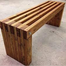 Afbeeldingsresultaat voor outdoor wooden bench
