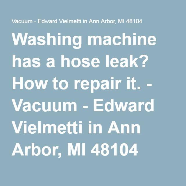 washing machine hoses leak