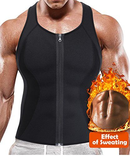 a032af2a4 BRABIC Hot Sauna Sweat SuitsZipper Closure Tank Top Shirt for Weight  LostWaist Trainer Vest Slim Belt Workout Fitness-Breathable Neoprene Fabric