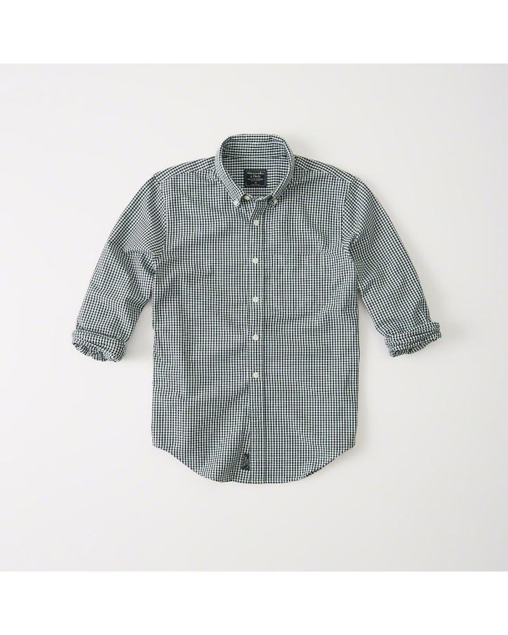 A&F Men's Oxford Shirt in Green - Size XS