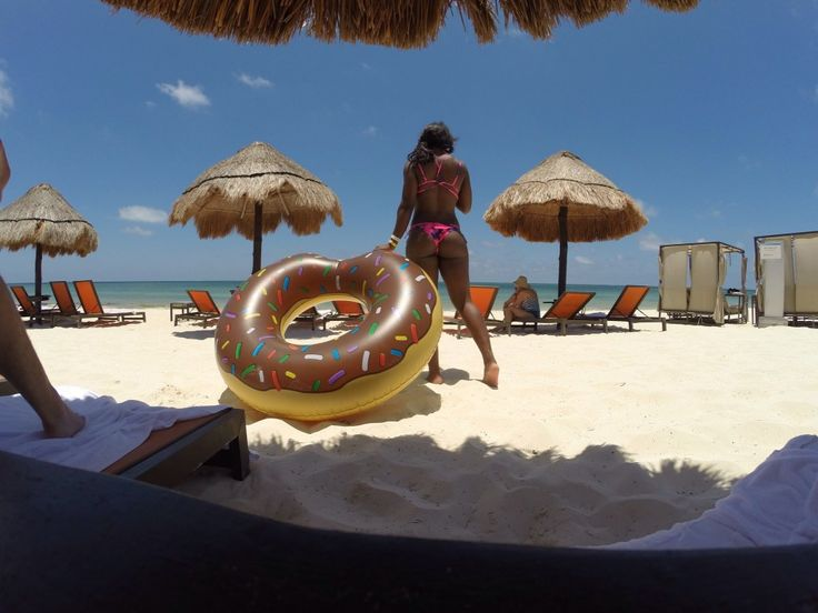 Cancun, summer, summer floating, ocean, vacation, beach, donut floaty