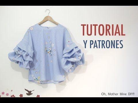 DIY Costura de blusa con mangas abullonadas (Patrones gratis) | Oh, Mother Mine DIY!! - YouTube | Bloglovin'