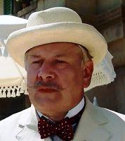 Peter Ustinov as Hercule Poirot in Agatha Christie's EVIL UNDER THE SUN.