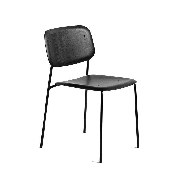 Soft Edge stålram stol, soft black i gruppen Möbler / Stolar & Pallar / Stolar hos RUM21.se (1027221)