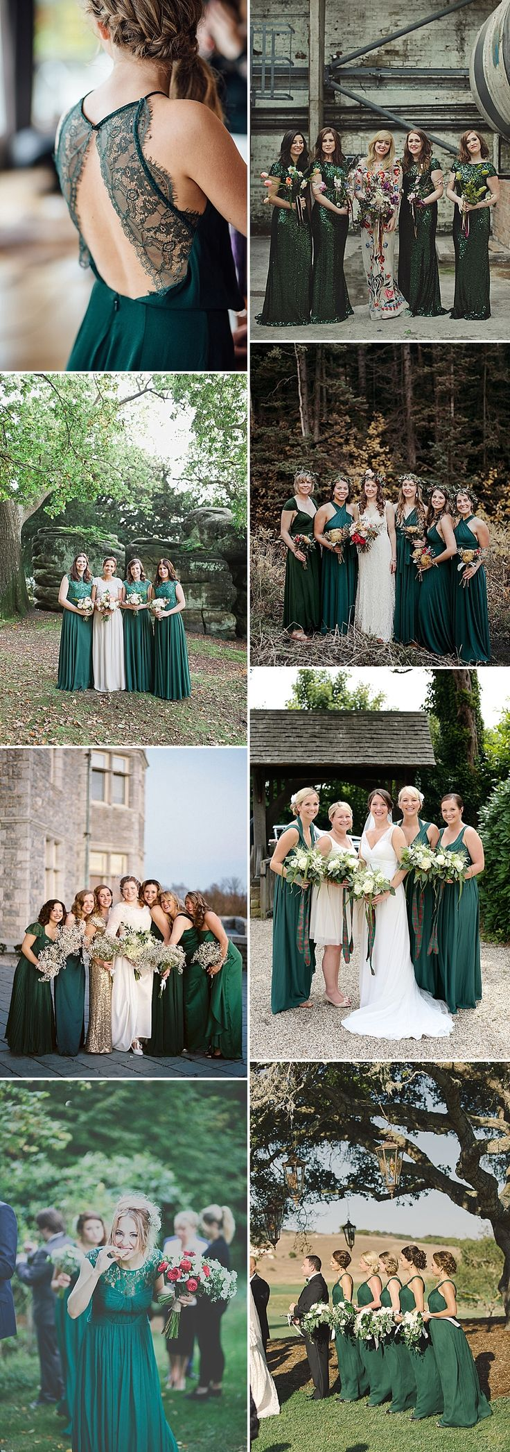 Forest Green Bridesmaid Inspiration | Emerald | Jade | Teal | Bridesmaid Dresses