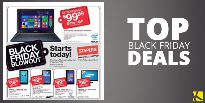 Staples Black Friday 2015 -  It's that time again. The doors of the retailer are being pounded on, people so excited as the opening time on Black Friday approaches. Since the turn of the millennium we've created this viral tradition and major retailers are more than happy to oblige our desire to start the... #StaplesBlackFriday -  #BlackFriday