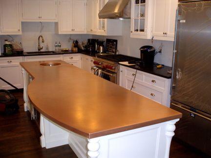Copper Countertop Brooks Custom Brookscustom Com Copper Coppercountertop Kitchen Renovation