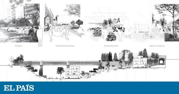 Colau busca ensayar en Vallcarca su modelo de urbanismo social El proyecto ganador del concurso para ordenar el barrio da protagonismo a la vivienda social el agua zonas verdes y la economía de proximidad