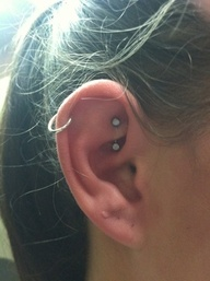 rook piercing with the helix.