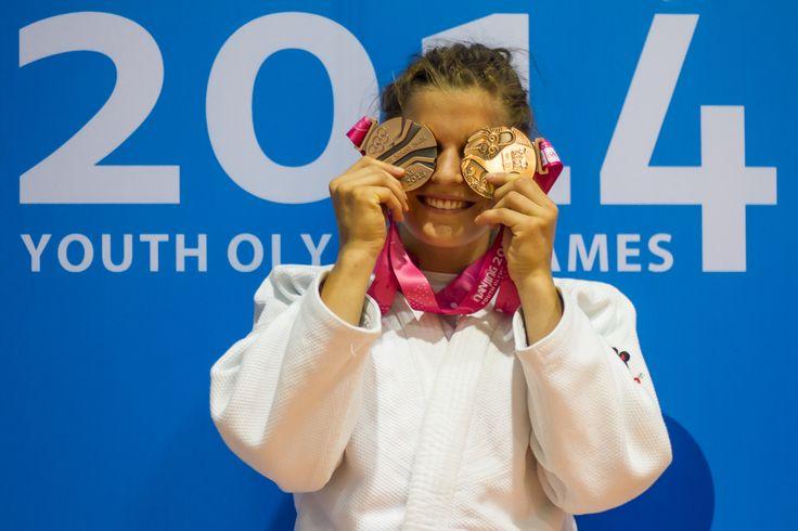 Maruša Štangar, druga bronasta medalja v judu, mladinske olimpijske igre v Nandžingu