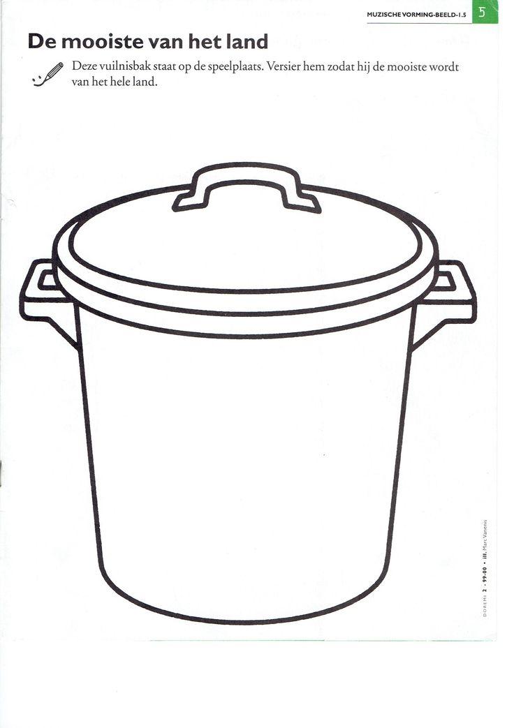 vuilnisbak vuilnisbakken thema recycleren