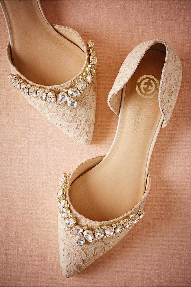Lace Wedding Flats With A Little Bling Pure Perfection With Any