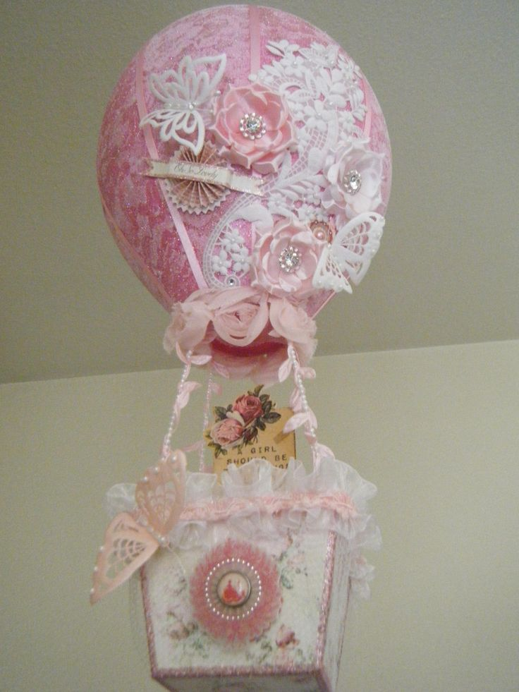 Shabby chic hot air balloon my piece of scrap for Bougeoir shabby chic