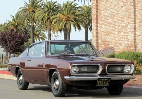 1968 Plymouth Barracuda Fastback Black Plate California Car For Sale Front Art On Wheels