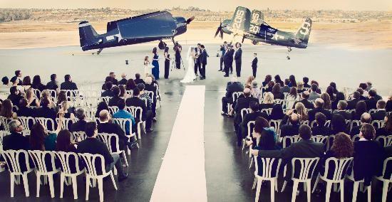 Wedding at Commemorative Air Force Camarillo Airport Museum
