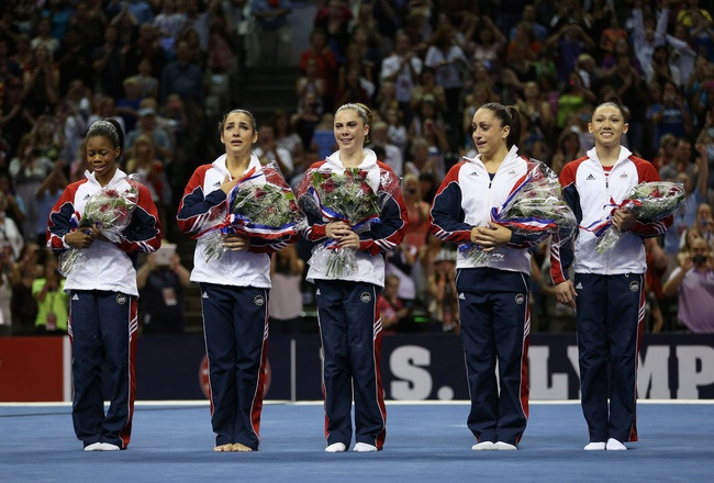 Fab Five: Olympics Gold, 2012 Olympics, Olympics Gymnastics, Ali Raisman, Teamusa, Outfits Ideas, Gymnastics Team, Women Gymnastics, Team Usa