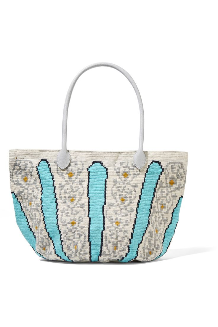 SOPHIE ANDERSON Canasta leather-trimmed crocheted cotton tote€366