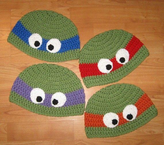 Ha! Want these for my boys.: Tmnt Teenage, Ninjas Turtles, Crochet Baby Hats, Cute Boys, Mutant Ninjas, Crochet Hats, Turtles Crochet, Turtles Beanie, Infants Boys