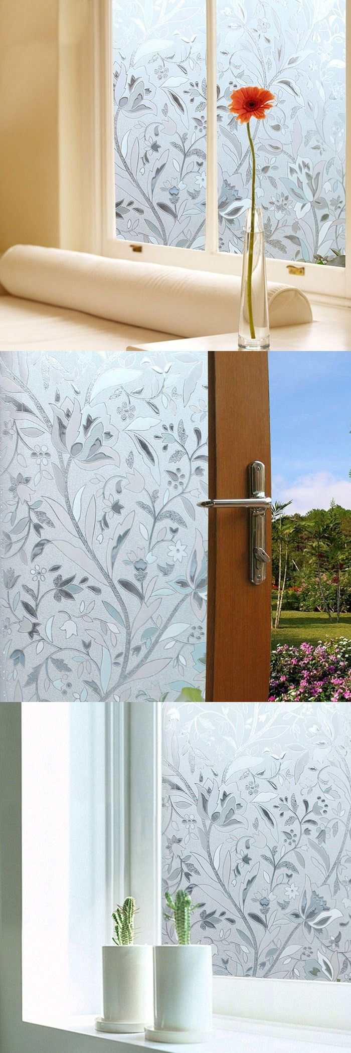TS-W180 PVC Printing Pattern Window Sticker - TRANSPARENT