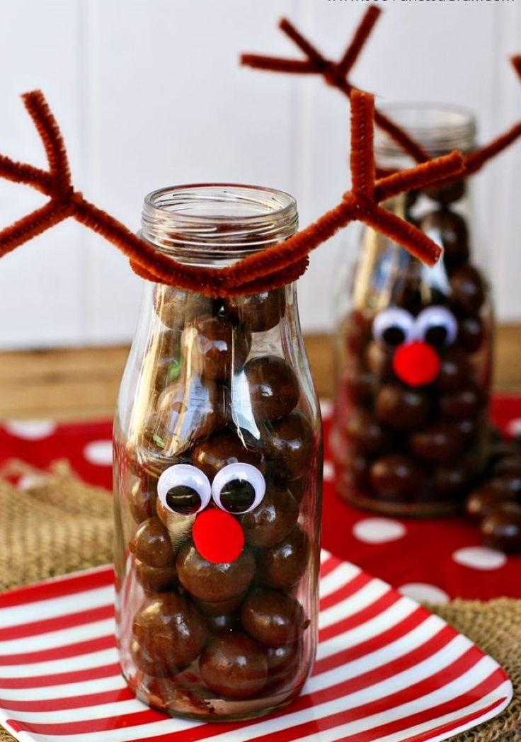 Chocolates decorativos como renos