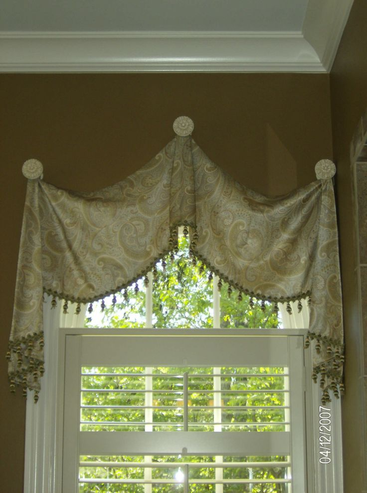 20 best images about arched window treatments on pinterest for Arched kitchen window treatment ideas