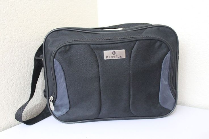"""protege small carry-on luggage black pre-owned 14"""" x 11"""" x 5"""" approx. #Protege"""