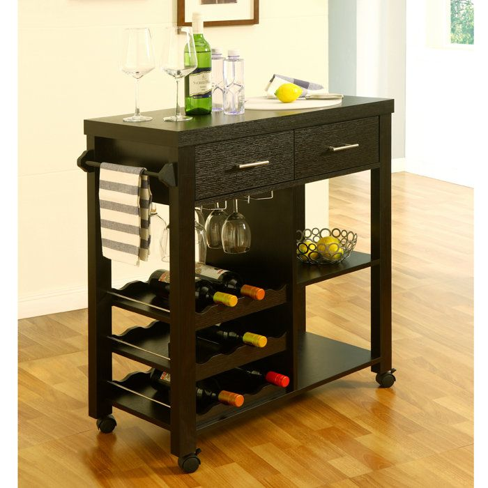 A great addition to any small or large kitchen. Is functional as a wine cart, tea station, or can serve as a counter top surface for basic kitchen use.