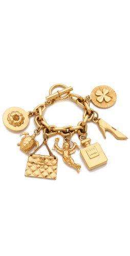 •♥• Vintage Chanel Charm Bracelet