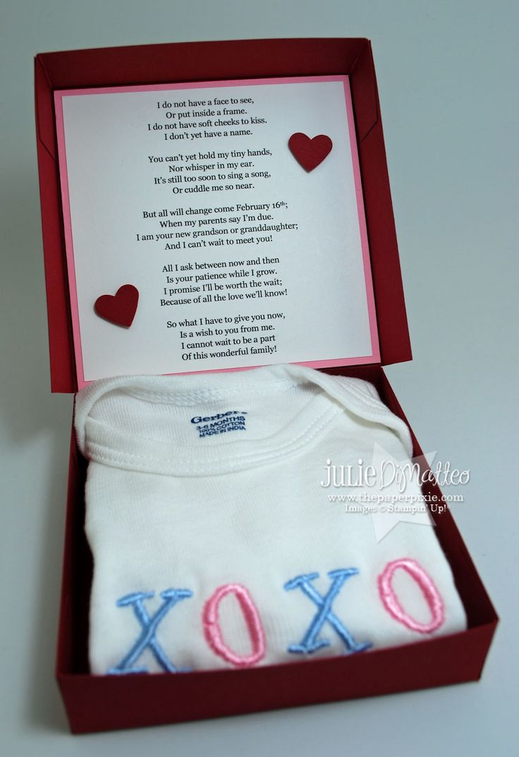 Make an Adorable Pregnancy Announcement Gift Basket