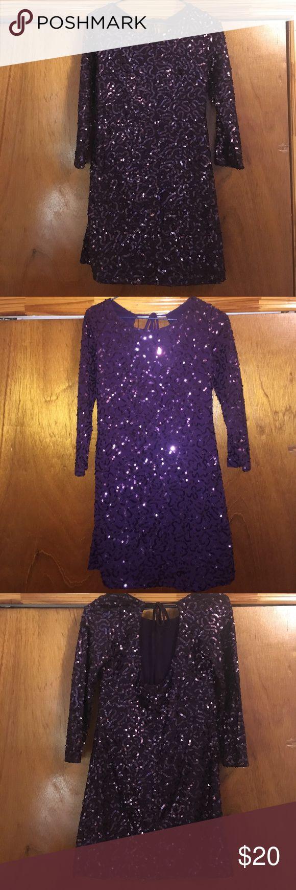 Purple Sequin Dress Foley Purple Sequin Party Dress Forever 21 Dresses Mini