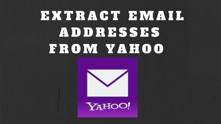 How to Extract Email Addresses from Yahoo Mail Account?  How to Extract Email Addresses from Yahoo Mail Account? https://youtu.be/i1T9PazLR6s  via @YouTube #email #marketing #emailmarketing #software #download #howto #addresses #yahoo #business #work #office #id's #mail #onlinemarketing