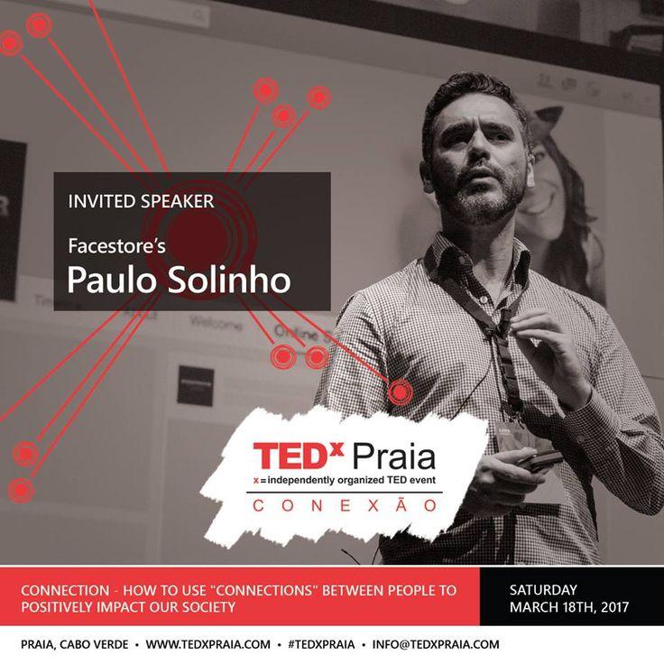 O CEO da Facestore, Paulo Solinho Barbosa é um dos oradores convidados do TEDxPraia para promover ideias que merecem ser partilhadas com o objetivo de inspirar as pessoas a mudarem o mundo.